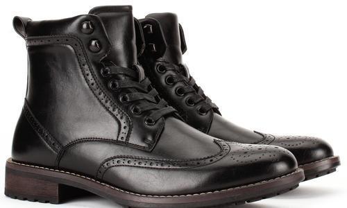 Combat Wingtip Dress Boots