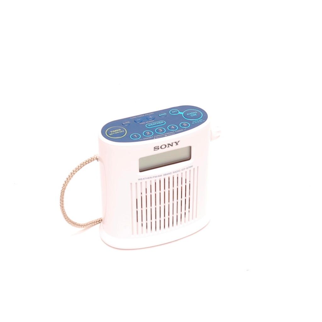 Sony Icfs79w Weather Band Digital Shower Radio
