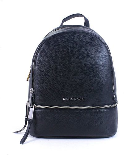 dde7e94fa9 ... Michael Kors Women's Rhea Leather Backpack - Black - Size: Medium ...