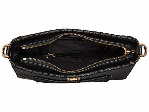 6270fcce0b26 Michael Kors Women's Whipstitched Leather Messenger Bag - Black ...