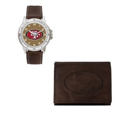 Rico NFL San Francisco 49Ers Men's Watch and Wallet Set - Brown