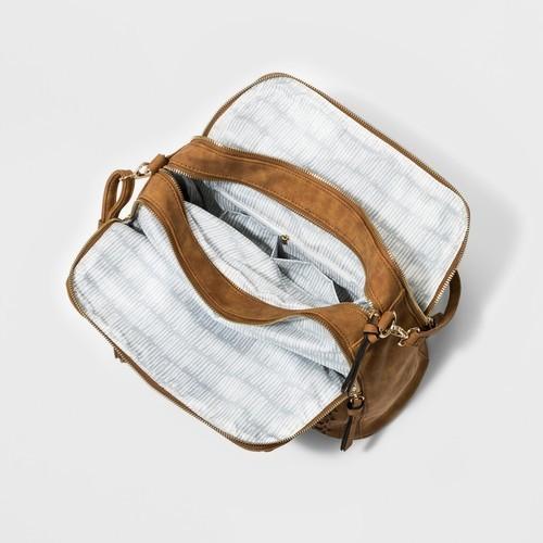 ... Violet Ray VR Women s Laser Cut Logan Satchel Handbag - Cognac ... 0f4da31f50f47