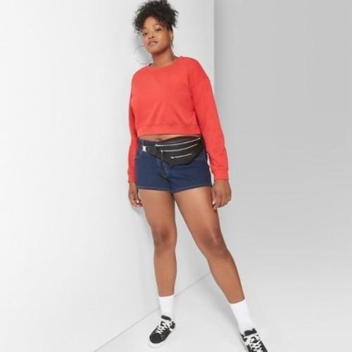 29804ba2978 ... Wild Fable Women s Plus Size High-Rise Denim Shorts - Dark Wash - Size   ...