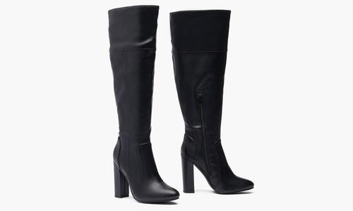 Heel Wide-Calf Boots