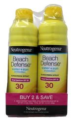 Neutrogena 13fl.oz. Beach Defense Sunscreen Spray - Pack of 2