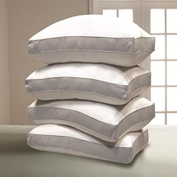 1000 TC Egyptian Cotton Cover Down Alternative Pillow - 4 pk Jumbo - White