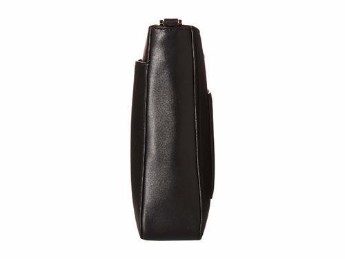 fb2e0fd72f ... Michael Kors Women s Gloria Leather Pocket Swing Crossbody Bag - Black  ...