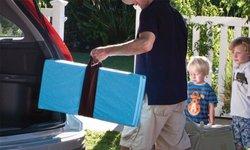 MamaDoo Kids Smart Play Yard Mattress Topper - Blue
