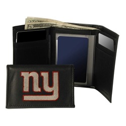 Rico Industries Nfl Embroidered Leather Trifold Wallet New York Giants