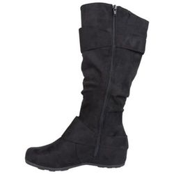 Journee Collection Women's Buckle Knee High Boots