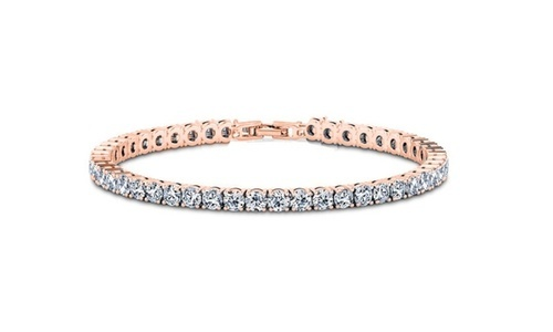 Yeidid Women S 12 00 Cttw Swarovski Crystals Tennis Bracelet Rose Gold Check Back Soon