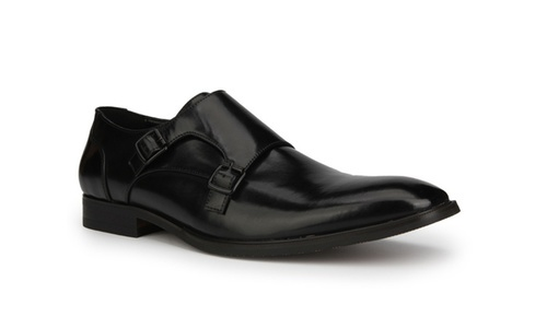 Unlisted By Kenneth Cole Mens Dinner Monk Dress Shoes Black