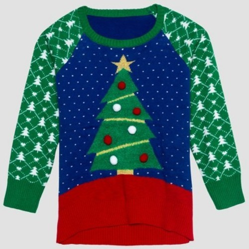 6aa408c733eb80 Well Worn Toddler Girls' Ugly Holiday Sweater - Blue - Size:3T - BLINQ