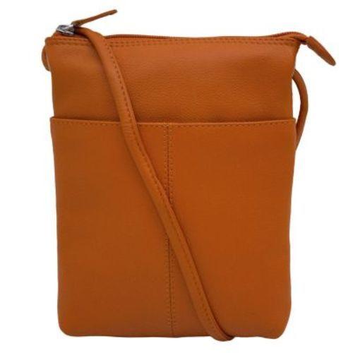 ILI Women's Small Toffee Crossbody Purse - Orange Ili International Leather Industries photo