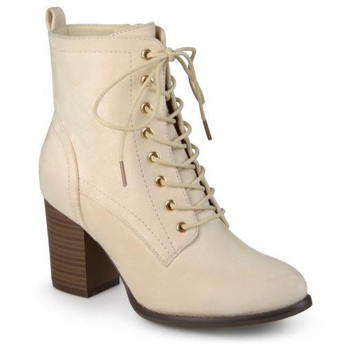 44390c95bee4 Journee Women s Stacked Heel Lace-up Booties - Beige - Size  6.5 - Check  Back Soon - BLINQ