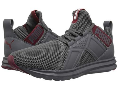Puma Men s Enzo Woven Mesh Running Shoes - Gray-Red - Size 12 - BLINQ c5eb0f6cb
