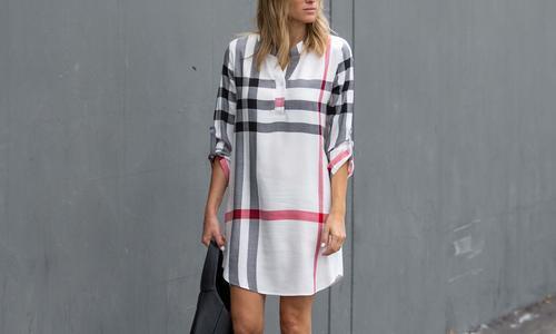 09b4cfb4758 Reflection Women s Plus Size Cotton Plaid Dress - White - Size 1X ...
