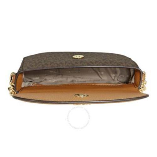 690637e0bcea ... Michael Kors Women's Mott Half-Dome Crossbody Bag - Brown/Acorn ...