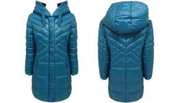 30First Women's Windproof Puffer Down Jacket - Teal Puffer - Size:XL