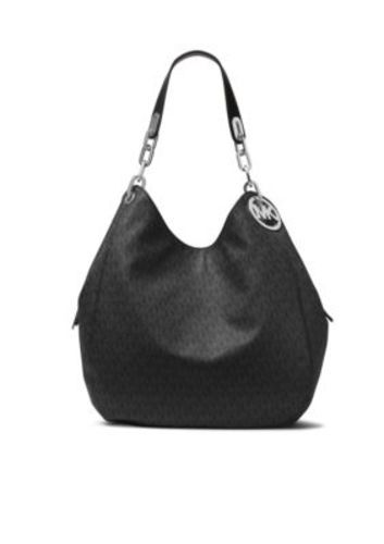 28a4900c7eb4 Michael Kors Signature Fulton Shoulder Bag - Black - Size: Large ...