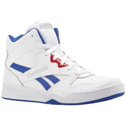 65f774e4009eb4 Reebok Men s Royal BB4500 HI2 Shoes - White Blue Red - Size 9.5 - BLINQ