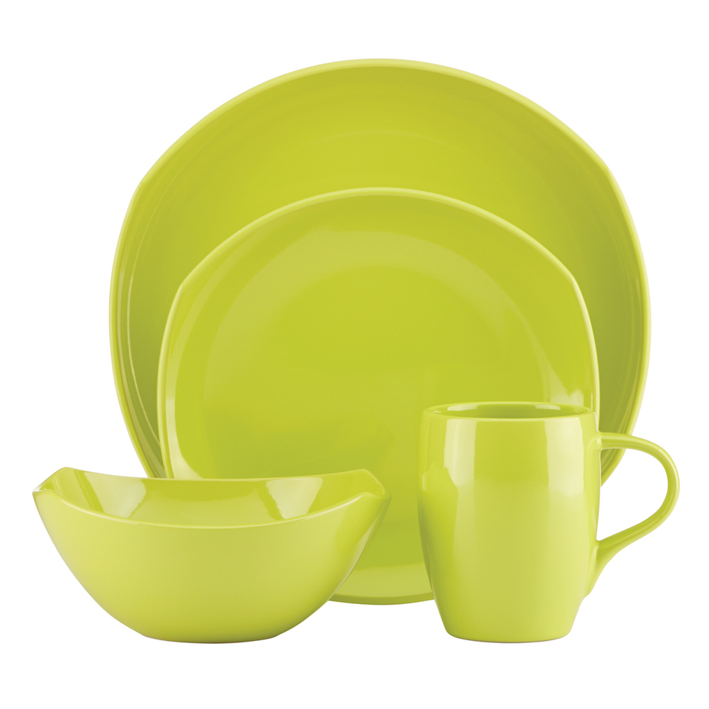 Dansk classic fjord 16 piece dinner set apple green for Decor 8 piece lunch set