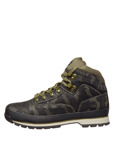 d84f56ffcaf Timberland Men's Euro Hiker Jacquard Boots - Camo - Size:10