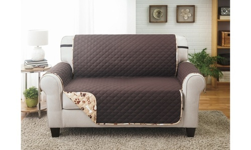 Couch Guard Woof Pet Printed Reversible Loveseat Protector