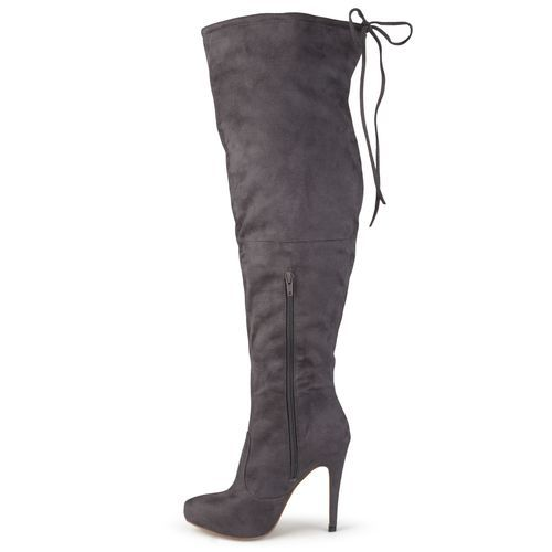 32cadde828d3 Journee Collection Women s Magic Over-the-Knee Boots - Gray - Size 8 ...