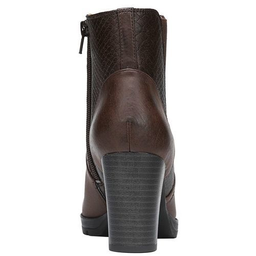 Nadia Wide Ankle Boots - Brown
