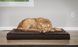 FurHaven Faux Sheepskin Pet Bed Dogs -