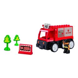 Playtek Remote Control Fire Engine Building Blocks