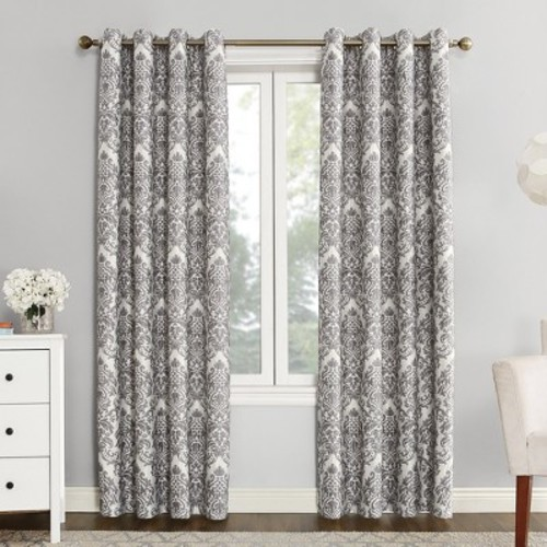 Sun Zero Blackout Lined Grommet Curtain Panel