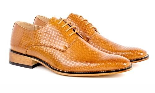 dd25cf6615b Gino Vitale Men s Diamond Cut Lace-Up Dress Shoes - Tan - Size  7.5 ...