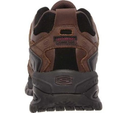95e3590d59ce3 Skechers Men's Work Relaxed Fit Shoes - Brown - Size:8.5 - Check ...