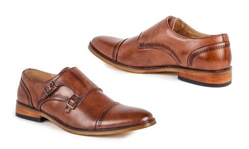 873d3063a00b ... Signature Mens Double Monk Strap Capital Dress Shoes - Brown - Size  11  ...