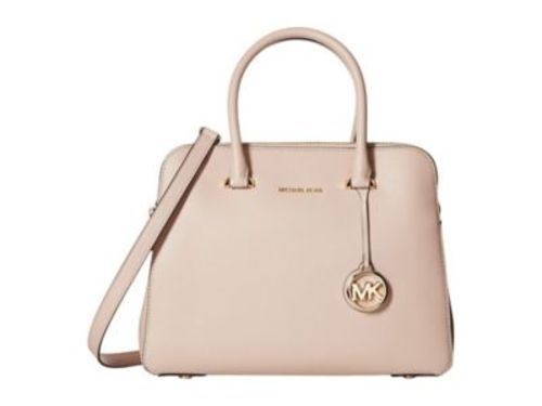 7e0466a86052 Michael Kors Women's Maddie Double Zip Satchel Bag - Soft Pink ...