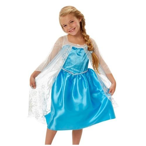 Disney Frozen Girlsu0027 Elsa Halloween Costume Dress   Blue   Size:4 6X    Check Back Soon