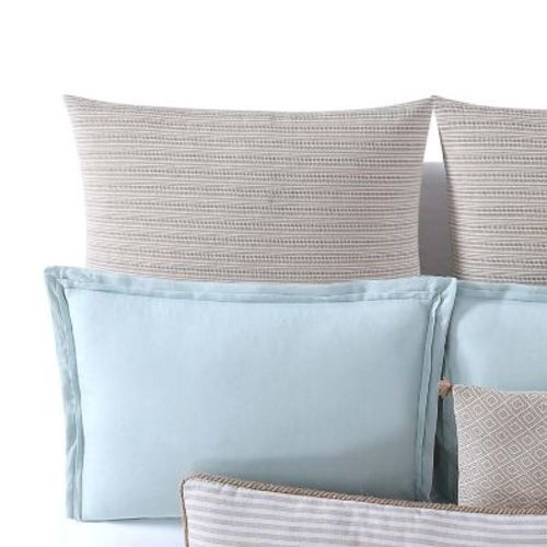 Oceanfront Resort Chambray Coast Striped Euro Sham - Beige (CF2364NTES-1400) photo