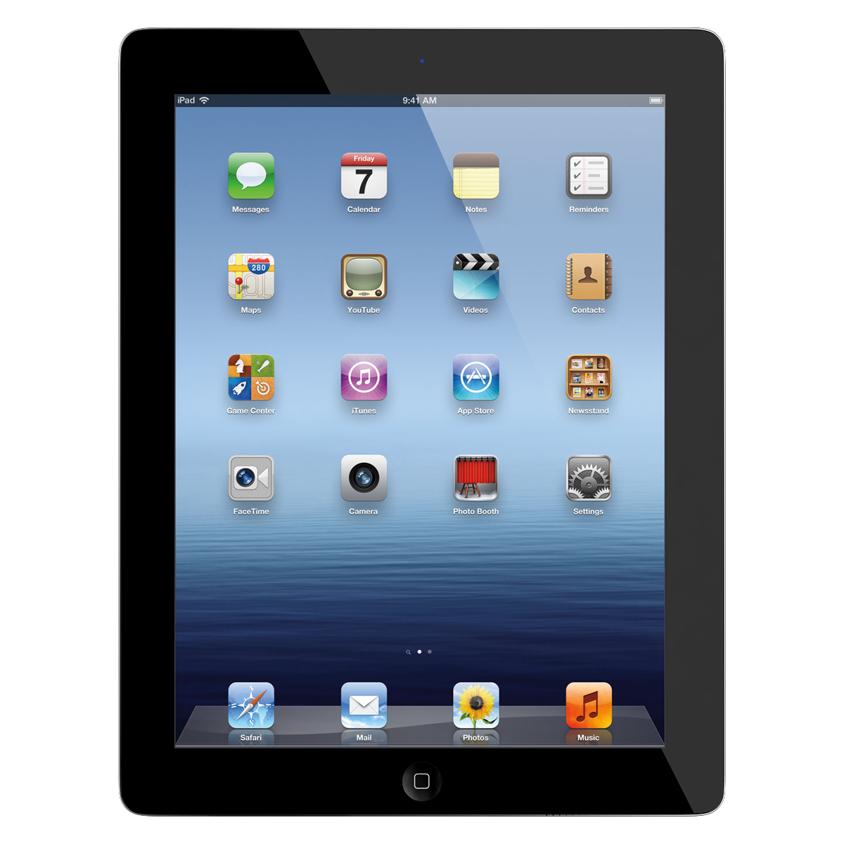 "Apple iPad 3 9.7"" Tablet 16GB iOS - Black (MD396LL/A-D ... Ipad 3 Png"