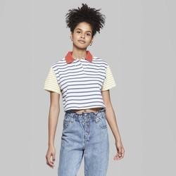 4cde756453 Wild Fable Women's Short Sleeve Boxy Polo Shirt - Navy - Size:L - BLINQ