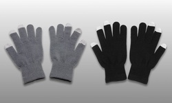 Aduro Smart Capacitive Touchscreen Gloves - Black/Grey - 2 Pairs