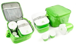 Bentgo Lunch Box Set Leakproof Cup Holds - Green - 12 Oz