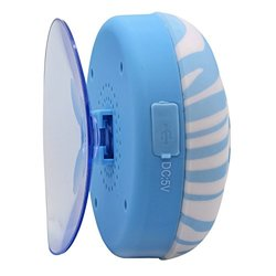 Aduro AQUA-Sound Pattern Shower Bluetooth Speaker - Blue Zebra