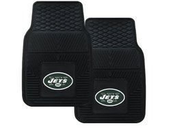 NFL 2-Piece Heavy Duty Vinyl Car Mat Set: New York Jets