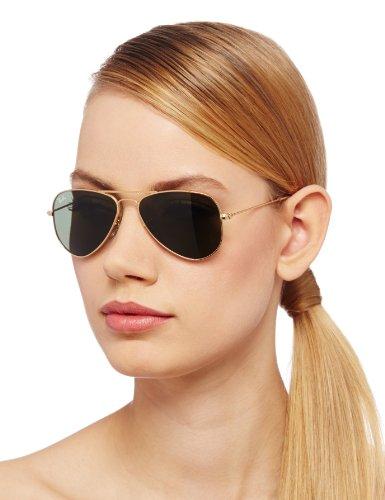 584b9dc6c6 ... new zealand ray ban unisex aviator sunglasses gold green 52mm 0rb3044  e57c3 6d31e