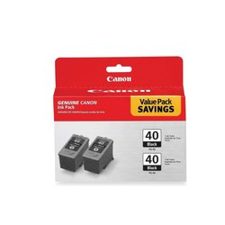 Canon PG-40 Inkjet Cartridge 2/Pack black