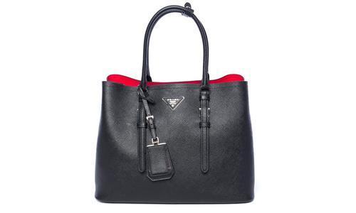 Prada Saffiano Handbags Purse - Black photo
