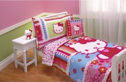 Hello Kitty 4pc Toddler Bedding Set