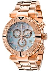 Invicta Men's Subaqua Chronograph Rose-Tone Stainless Steel Mother of Pearl Dial